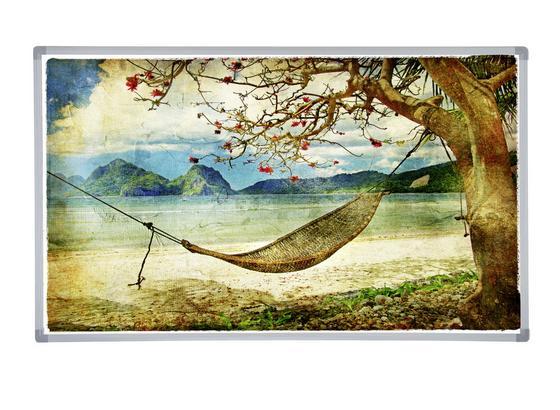 Infrarot Heizung 600 W Lake 100x60 cm - Multicolor, Basics, Metall (100/60/2,2cm)