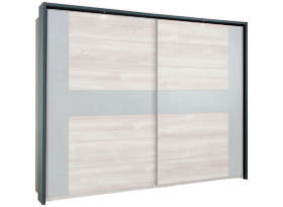 Paspartový Rám Chanton - tmavě šedá, Lifestyle, kov/kompozitní dřevo (281/216/24cm) - Based