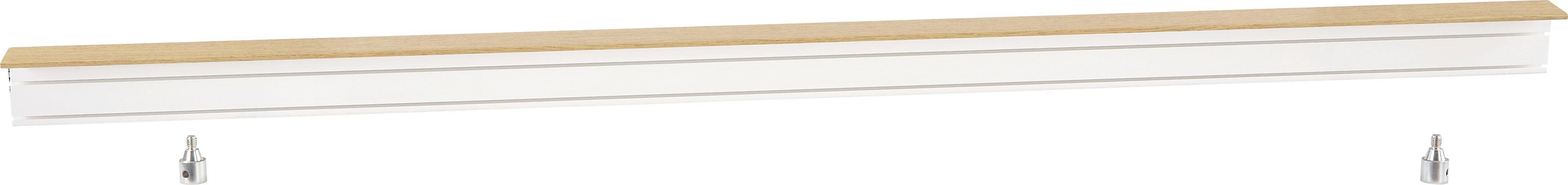 Függönysín Tölgy Színben - tölgy színű/fehér, konvencionális, műanyag (150/5/7.5cm)