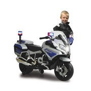 Kindermotorrad Ride-On Bmw R1200 Rt-Police - Blau/Silberfarben, Basics, Kunststoff (125/46/74cm)