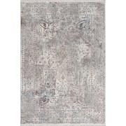 Hochflor Teppich Grau/Weiß Bergamo 133x190 cm - Weiß/Grau, MODERN, Textil (133/190cm)