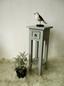 Beistelltisch Mahagoni Grau lackiert - Grau, MODERN, Holz (25/67/25cm)