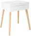 Schminktisch Stockholm 60cm Weiß - Weiß, MODERN, Glas/Holz (60/75/40cm) - Ombra