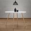 Jídelní Stůl John - bílá/barvy dubu, Moderní, kov/dřevo (110/76cm) - Modern Living