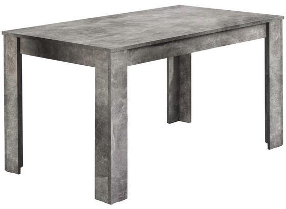 Esstisch Nick L: ca. 140cm Grau - Grau, MODERN, Holzwerkstoff (140/80/75cm) - Livetastic