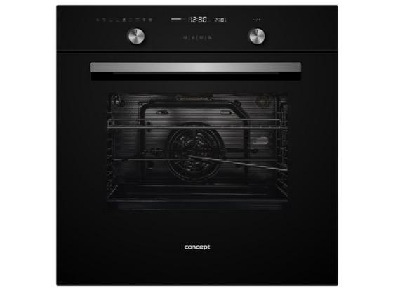 Vestavný Sporák Etv 7560 Bc - černá, Moderní, sklo (59,5/59,5/55,5cm) - Concept