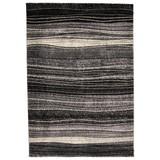 Webteppich Mo 133/190 - Schwarz/Weiß, MODERN, Textil (133/190cm)