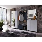 Garderobenschrank K2 B: 80 cm Weiß - Weiß, Design, Glas/Holzwerkstoff (80/200/39cm) - Xora
