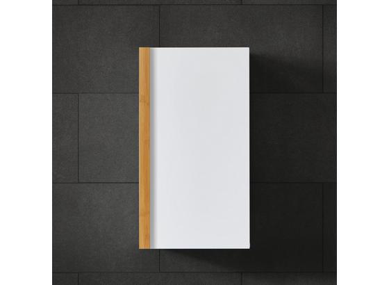 Nástěnní Skřiňka Rico - bílá/přírodní barvy, Moderní, dřevo (32/58/18,50cm) - Modern Living