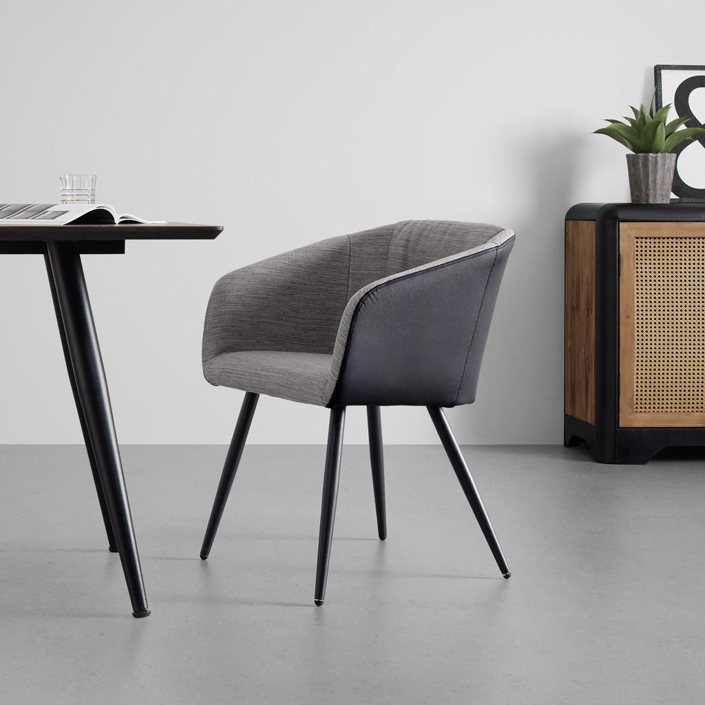 Jídelní Židle Bianco Pravá Kůže Černá