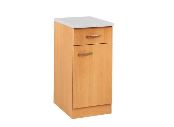 Küchenunterschrank Nano  B. 40 cm Buche Dekor - Buchefarben, MODERN, Holzwerkstoff (40/85/60cm)