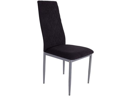 Židle Se 4 Nohami Franka - černá/barvy stříbra, Konvenční, kov/textil (42/97/53cm)