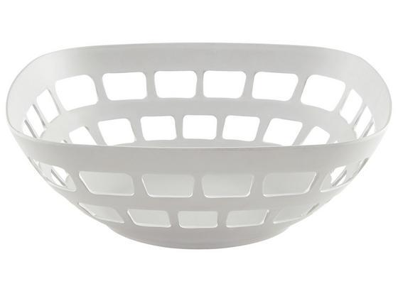 Košík Na Ovocie Solveig - biela, Moderný, kompozitné drevo/plast (30/11cm) - Premium Living