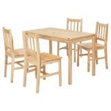 Tischgruppe Emil - Kieferfarben, Basics, Holz (108/65/73cm) - Carryhome