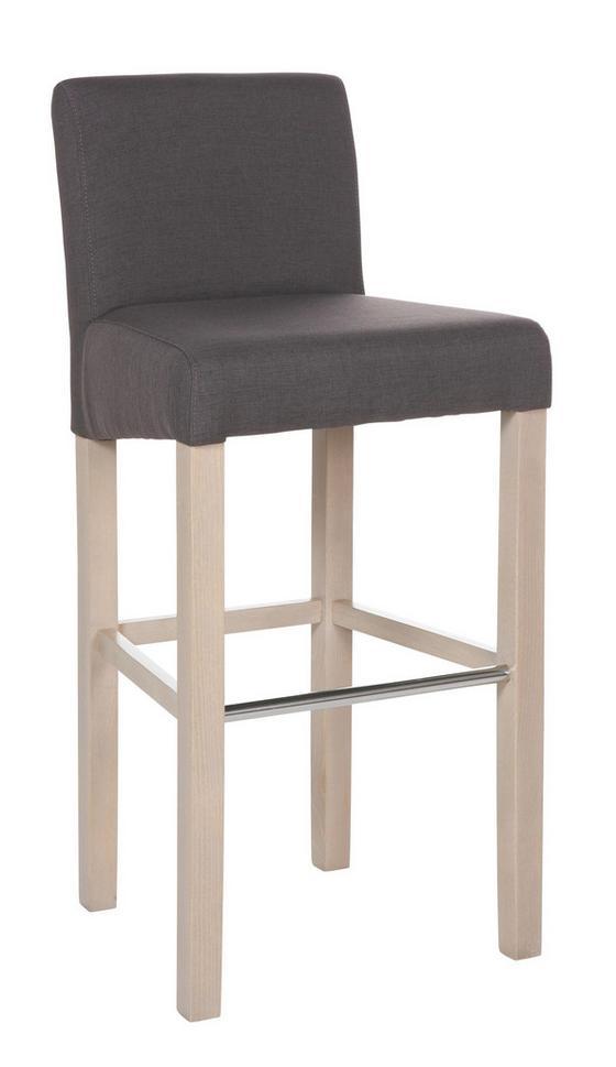 Barová Židle Ana Hnedá - barvy dubu, Konvenční, dřevo (47/101/44cm)