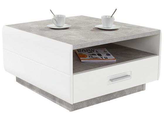 couchtisch grau mit laden und fach avensis in betonoptik weia modern holzwerkstoff ferrara farbe hochglanz