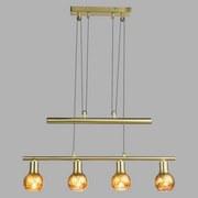 Hängeleuchte Tigre - Goldfarben, MODERN, Glas/Metall (61/8/160cm)
