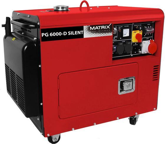 Matrix Stromgenerator Pg 6000-d Silent - Rot/Schwarz, KONVENTIONELL, Kunststoff/Metall (95,5/86,5/57,5cm) - MATRIX