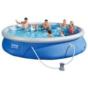 Schwimmbecken Fast Set Pool 57313 - Blau/Weiß, Kunststoff (457/84cm) - Bestway