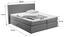Boxspringbett Allegra 160x200 Hellgrau - Hellgrau/Schwarz, KONVENTIONELL, Holz/Holzwerkstoff (160/200cm)