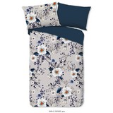 Bettwäsche Denise - Petrol/Weiß, Basics, Textil