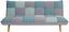 Schlafsofa Patchwork - Grau/Hellblau, MODERN, Holz/Textil (185/80/91cm) - Ombra