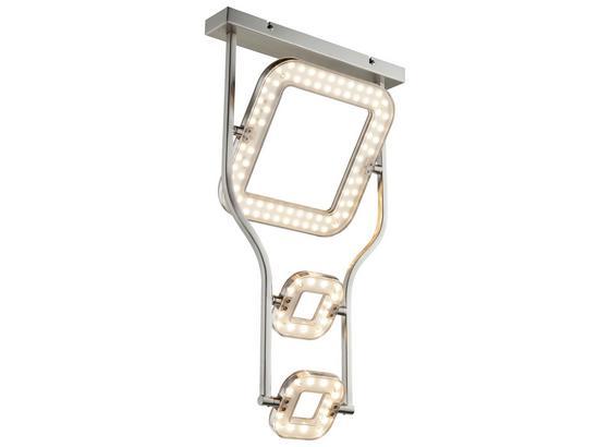 LED-Deckenleuchte Ida - Nickelfarben, MODERN, Glas/Kunststoff (35/25/60cm)