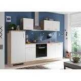 Küchenblock Welcome Andy - Weiß/Sonoma Eiche, MODERN, Holzwerkstoff (270/195/60cm)