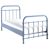 Kinder-/Juniorbett New York 90x200 cm Blau - Blau, ROMANTIK / LANDHAUS, Holzwerkstoff/Metall (90/200cm) - MID.YOU