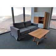 Dreisitzer-Sofa Thomas Polyester - Grau, Basics, Textil (208/90/94cm)