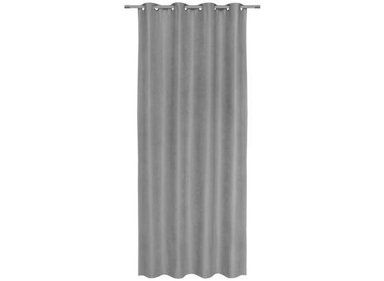 Záves S Krúžkami Nizza - sivá, Konvenčný, textil (140/245cm) - Mömax modern living