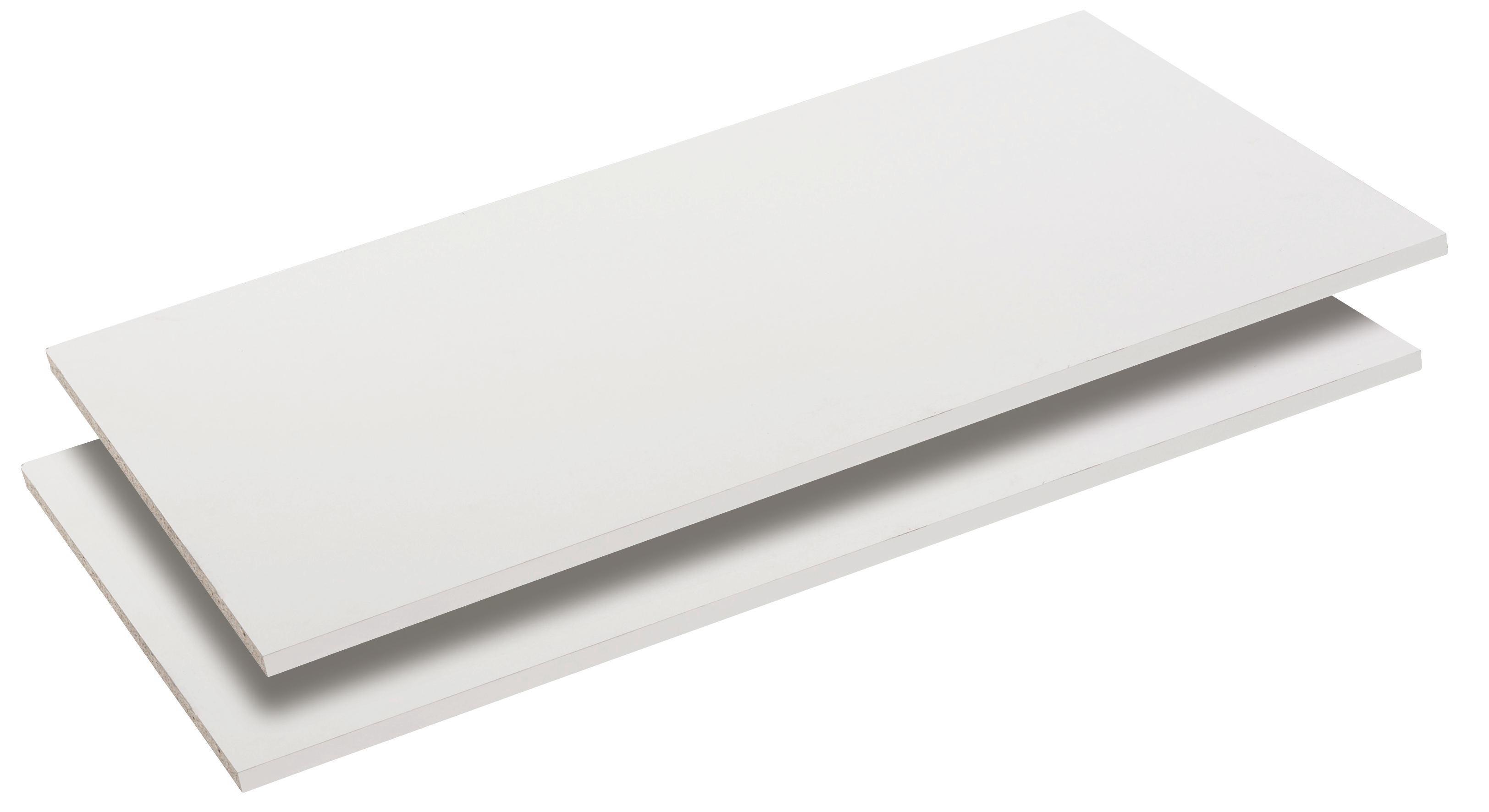 Sada Vkládacích Polic Viktor 4, Marvic, 2-jitý Set - bílá, Moderní, dřevo (105/2/48cm)