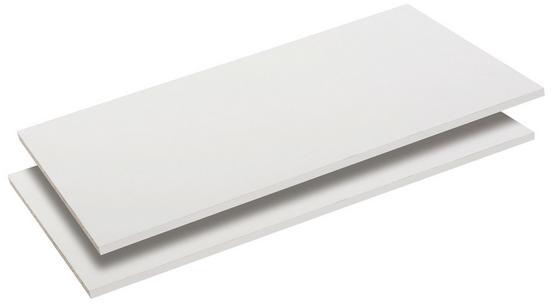 Vkladacia Polica Viktor2/ Viktoria, 2 Set - biela, Moderný, drevený materiál (83/1,5/48cm)