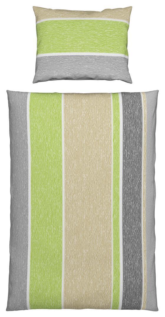 Bettwäsche Erina - Hellgrün/Naturfarben, MODERN, Textil - Luca Bessoni