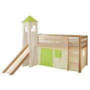 Spielbett Kasper 90x200 cm Grün/Beige - Beige/Kieferfarben, Natur, Holz (90/200cm) - MID.YOU