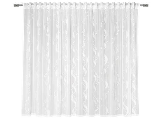 Kusová Záclona Wave Store 2, 300/175cm - biela, textil (300/175cm) - Modern Living