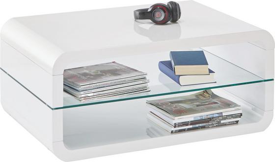 Konferenční Stolek Monroe - bílá, Moderní, sklo (90/40/60cm)
