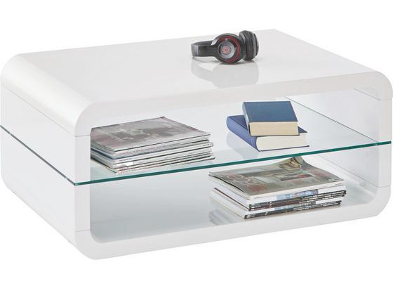 Konferenčný Stolík Monroe - biela, Moderný, sklo (90/40/60cm)