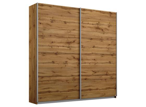Schwebetürenschrank 181cm Belluno, Wotan Eiche Dekor - Eichefarben, MODERN, Holzwerkstoff (181/210/62cm)