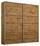Schwebetürenschrank Belluno 181 cm Eichefarben - Eichefarben, MODERN, Holzwerkstoff (181/210/62cm)