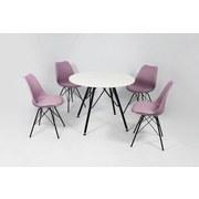 Stuhl-Set Ursel 2-er Set Lila - Lila/Schwarz, MODERN, Kunststoff/Metall (48/86/56cm) - MID.YOU