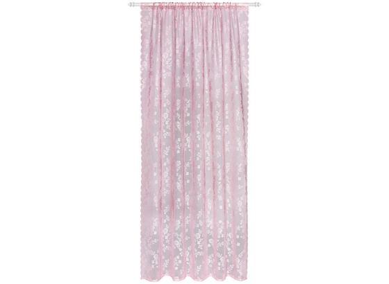 Závěs Babette 2 Ks - tmavě růžová, Romantický / Rustikální, textilie (140/245cm) - Zandiara