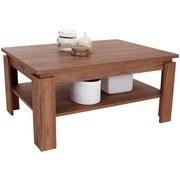 Couchtisch Holz mit Ablageflächen Nizza 2, Dekor - Eichefarben/Dunkelbraun, MODERN, Holzwerkstoff (100/45/60cm)