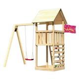 Spielturm Heidi Set M - Naturfarben, Holz (107/291/107cm) - Karibu