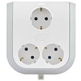 Steckdosenelement Multi Power 3-f - Hellgrau/Weiß, KONVENTIONELL, Kunststoff (12,7/13,3/6,3cm)
