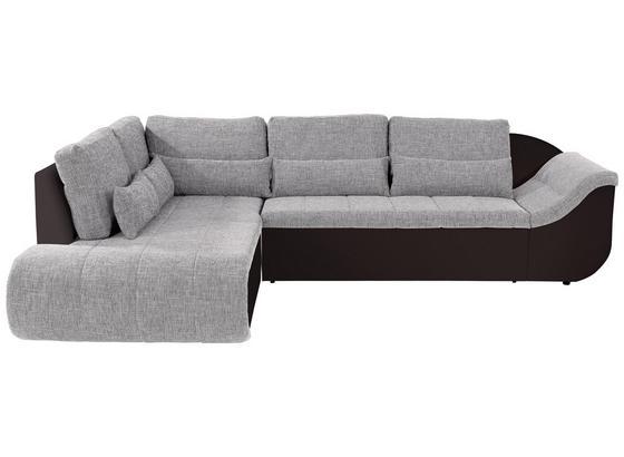 Wohnlandschaft in L-Form Carisma 210x300 cm - Hellgrau/Schwarz, MODERN, Textil (210/300cm) - Ombra