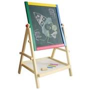 Maltafel Marionette - Blau/Gelb, MODERN, Holzwerkstoff (39/65/5,5cm)