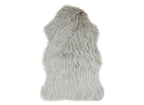 Umělá Kožešina Marina - bílá/šedohnědá, textil (60/90cm) - Modern Living