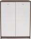 Komód 4-you - sötétbarna/fehér, modern, faanyagok (74/111,4/34,6cm)