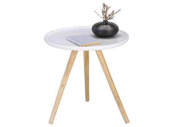 Odkladací Stolík Mailo 2-exklusiv/sb- - farby dubu/biela, Moderný, drevo/kompozitné drevo (48/48cm) - Modern Living